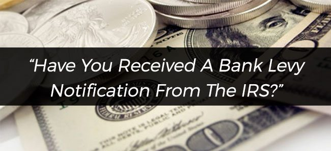 How To Stop Irs Bank Levy Or Wage Garnishment Tax Champions Tax